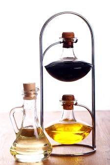 Flessen met olie