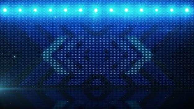 Flikkerende lichte achtergrond met pijlen. abstracte digitale achtergrond. technologie 3d-rendering.