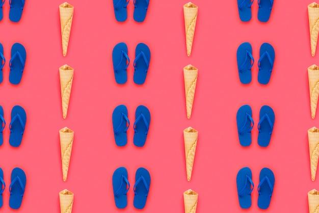 Flip-flop patroon voor de zomer