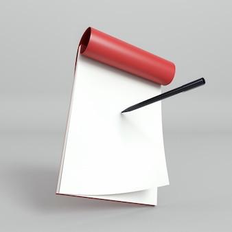 Flip-overpapieren en pen