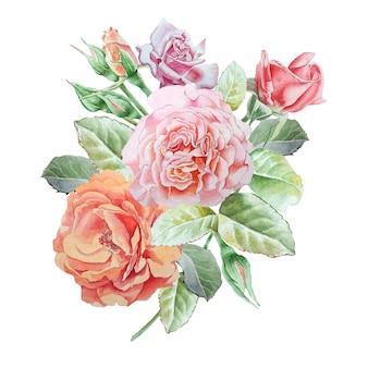 Floral kaart met bloemen.