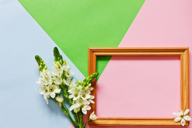 Floral plat leggen minimalism geometrische patronen wenskaart.