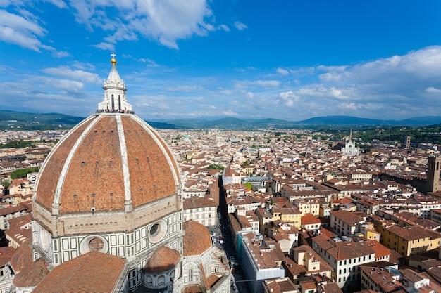 Florence kathedraal van giotto's klokkentoren, italiaans panorama