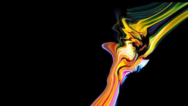 Fluide liquide kunst acryl olieverf textuur. achtergrond abstract mengen verf effect. vloeibaar gekleurd acrylkunstwerk stroomt spatten. vloeiende kunsttextuur overvolle kleuren