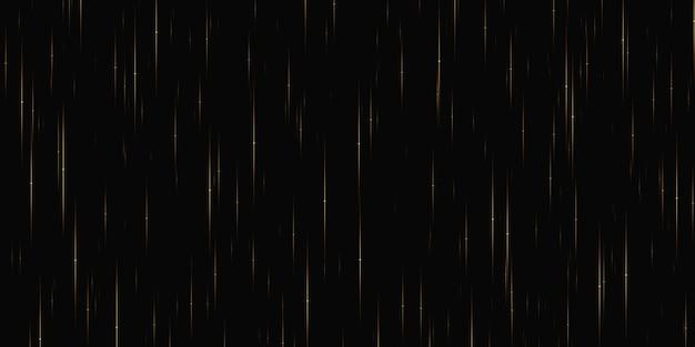 Fonkelende ster vallende ster en deeltjes die door spiraalvormige lichtgordijnen vallen