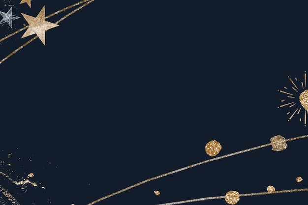 Fonkelende sterviering achtergrond marineblauw behang
