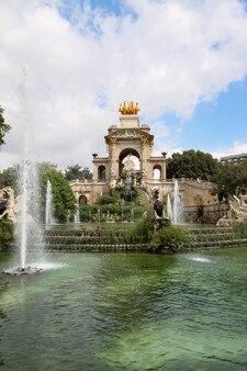 Fontein in parc de la ciutadella in barcelona, spanje