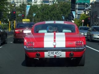Ford mustang, achthoek