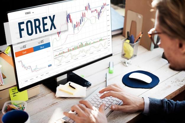 Forex stock exchange grafiek globaal bedrijfsconcept