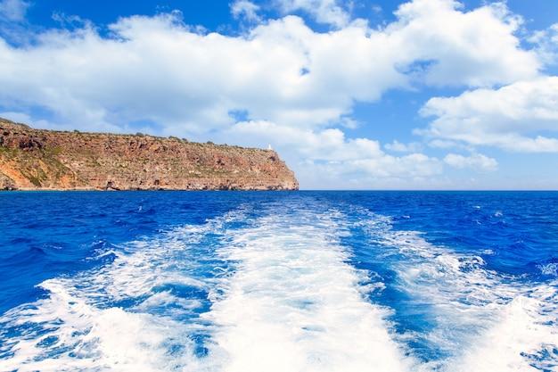 Formentera faro de la mola vuurtoren uitzicht op zee