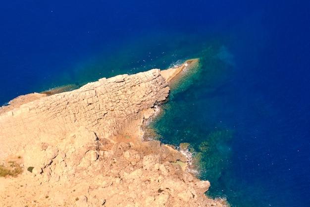 Formentor cape naar pollensa luchtfoto uitzicht op zee in mallorca