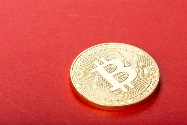 Foto gouden bitcoin