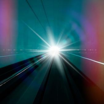 Foto met witte zonnestraal sprankelende lensflare