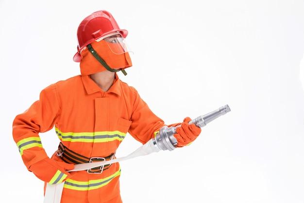 Foto's van brandweerlieden