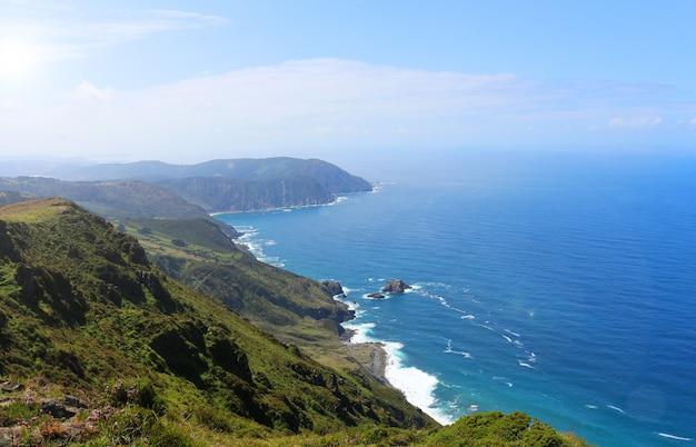 Foto's van cape ortegal in de provincie a coruãƒâ ± a in galicië