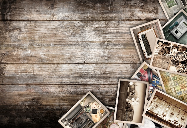 Foto's vintage houten achtergrond