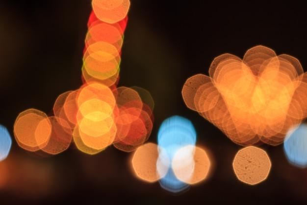 Foto van bokehlichten
