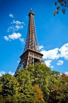 Foto van de eiffeltoren in parijs, tour eiffel