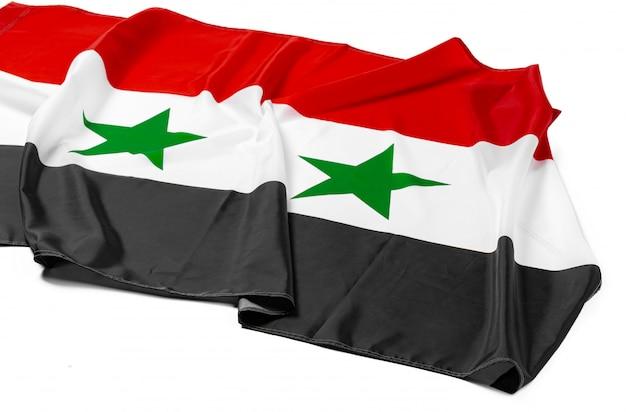 Foto van de vlag van stoffensyrië