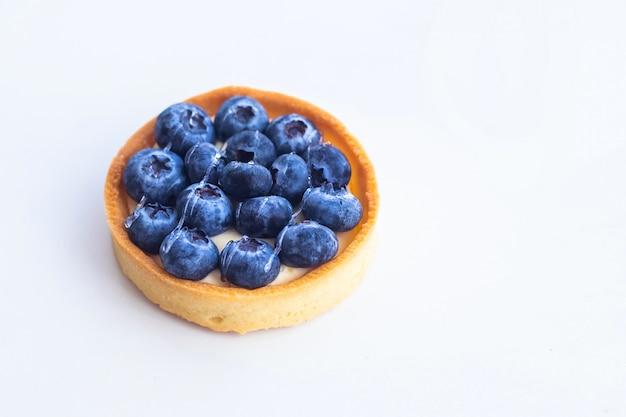 Foto van dessert met bosbessen