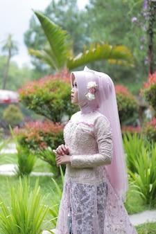 Foto van een getrouwde moslimvrouw