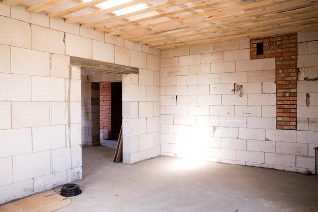 Foto van een lege ruimte voor toekomstige reparaties