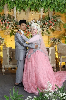 Foto van indonesische huwelijksgeluk wedding