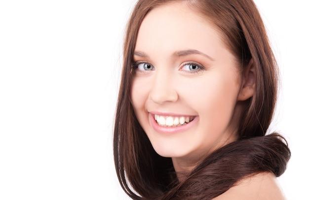 Foto van mooi meisje met lang haar