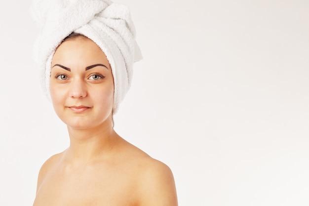Foto van mooie vrouw mooie vrouw in spa