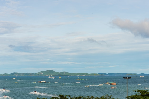 Foto' zee en de berg, pattaya, thailand