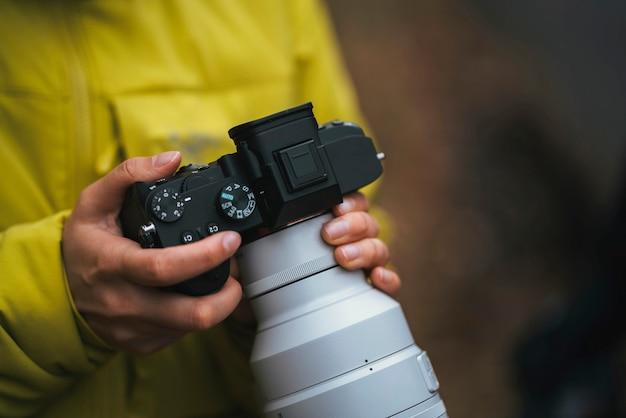Fotograaf bij de buachaille etive beag