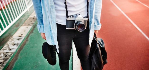 Fotograaf hobby recreatie stijl vrije tijd concept