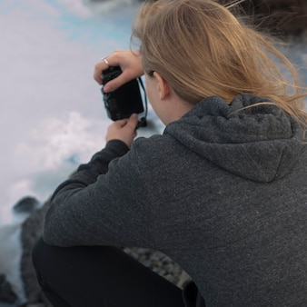 Fotograaf in trui