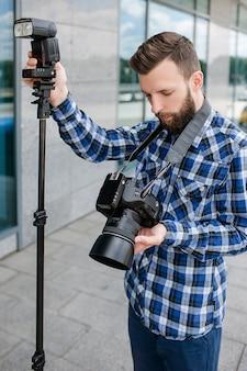 Fotografie apparatuur camera backstage fotograaf