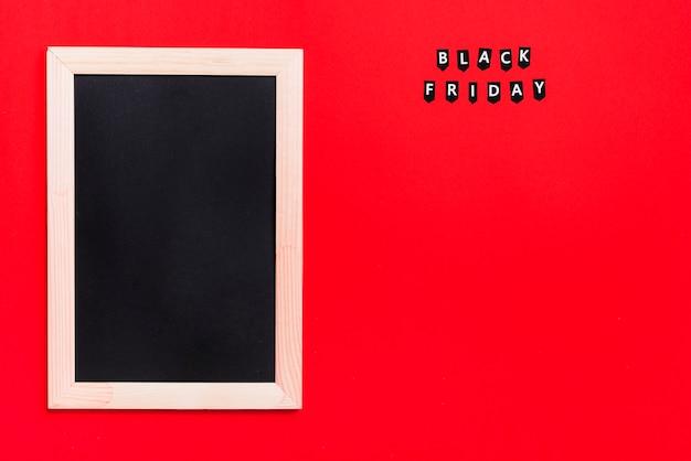 Fotolijst en labels met black friday-titel