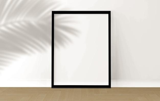 Fotolijst in de kamer, 3d-rendering, modelontwerp