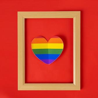 Fotolijst, lgbt simbol, homoseksueel op blauwe achtergrond