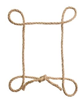 Fotolijst van touw geïsoleerd op een witte achtergrond