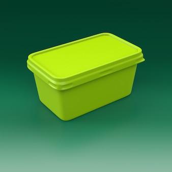 Fotorealistische render voedselverpakking. 3d-rendering