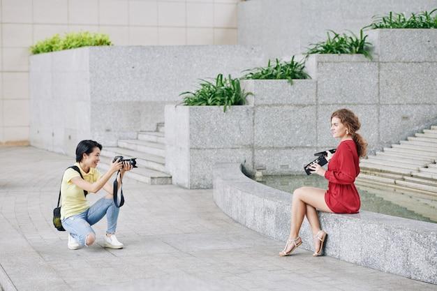 Fotoshoot van beautyblogger
