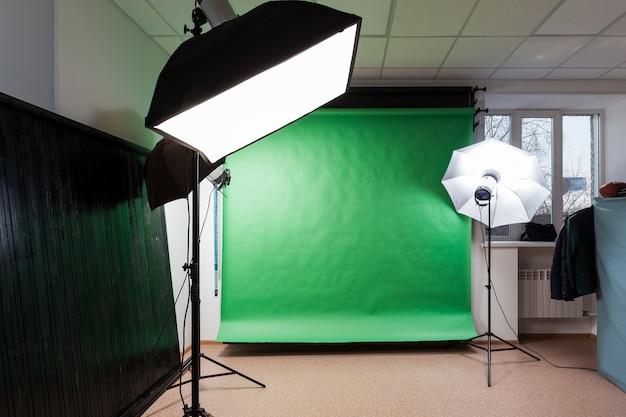 Fotostudio met studioapparatuur