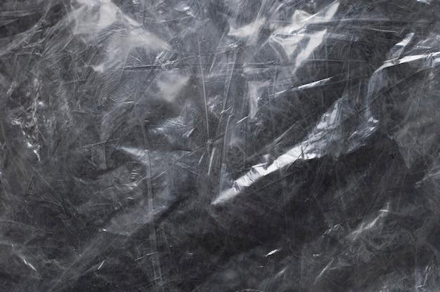 Fototextuur van glanzend polyethyleen