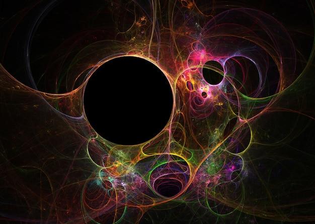 Fractal op zwart