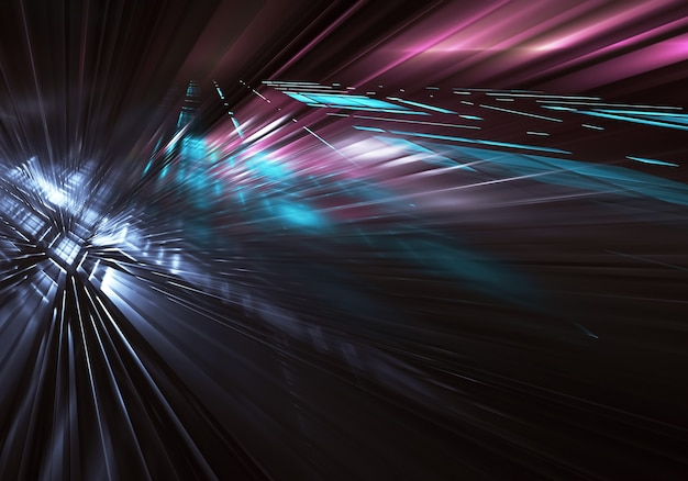 Fractale achtergrond voor gebruik in creativiteit en ontwerpprojecten. technologische fractal. abstracte 3d-afbeelding