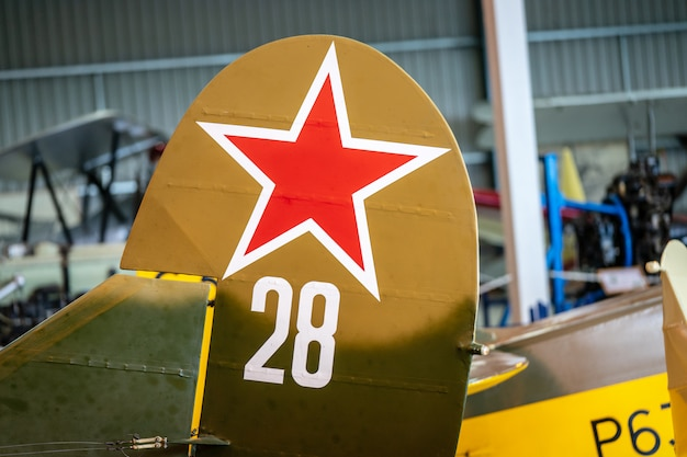 Fragment van 1944 polikarpov po2. race day op shuttleworth