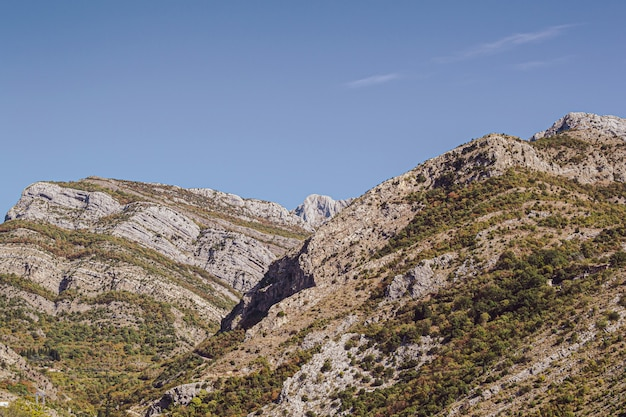 Fragment van bergen in montenegro