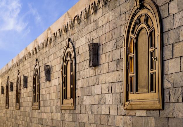 Fragment van openbare kathedraal koptische egyptische kerk