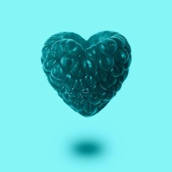 Framboos in de vorm van een hart