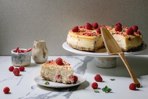 Frambozen gebakken cheesecake