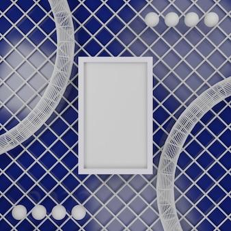 Frame fotolijst 3d-rendering geometrisch concept